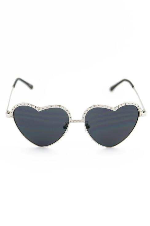 I HEART YOU SUNGLASSES - Black/Silver - Haute & Rebellious