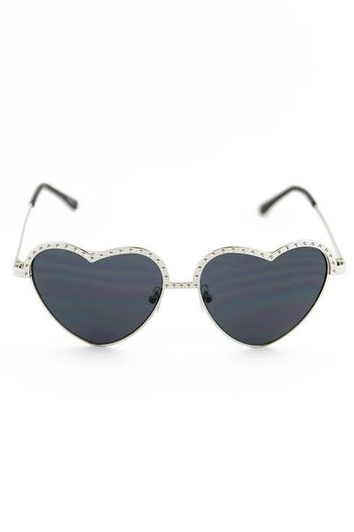 I HEART YOU SUNGLASSES - Black/Silver