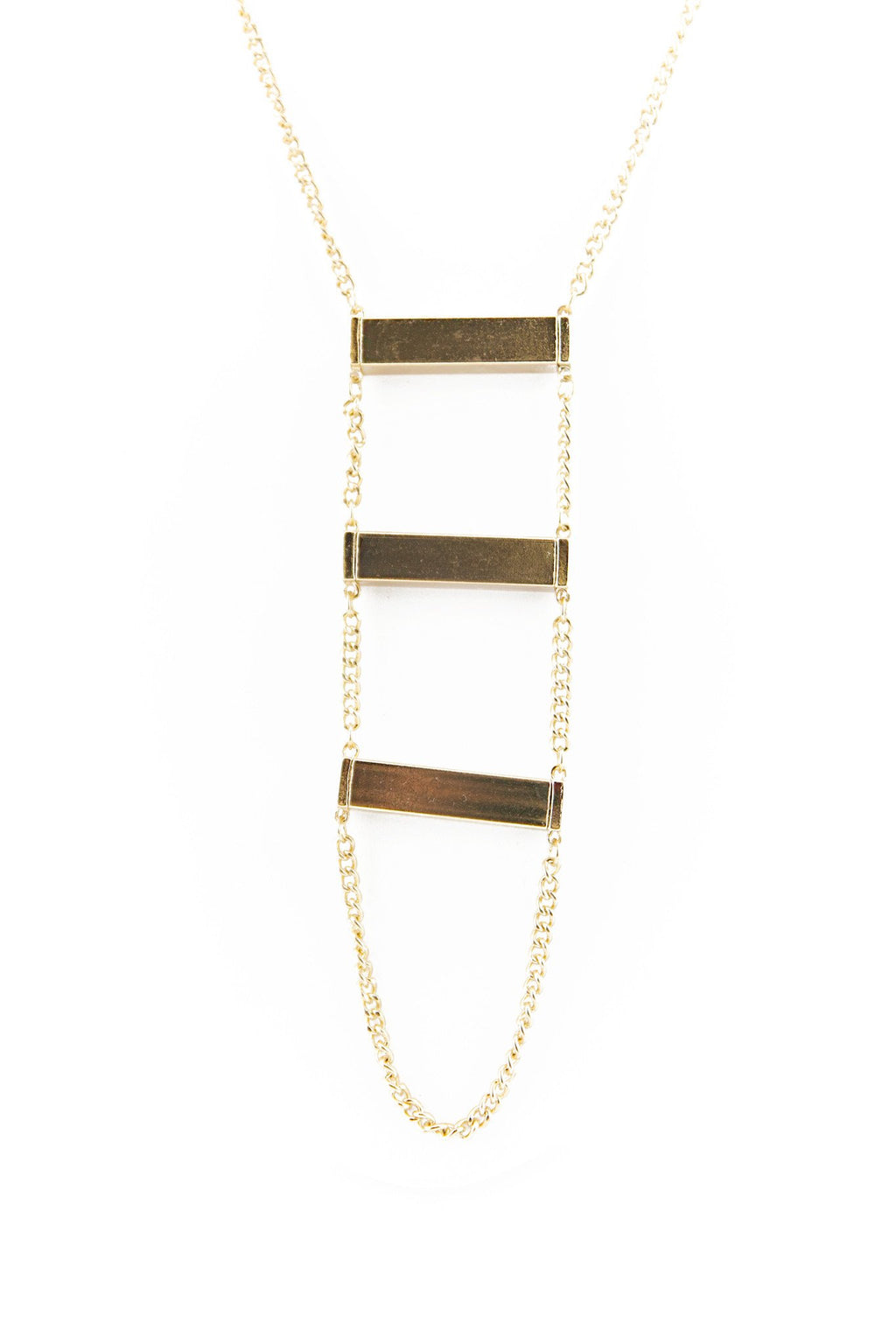 LONG TRIPLE BLOCK PENDANT NECKLACE - Haute & Rebellious