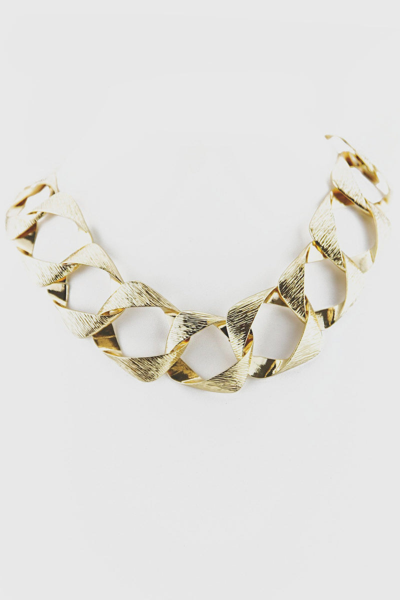 GEO OVERSIZE CHAIN LINK NECKLACE - Haute & Rebellious