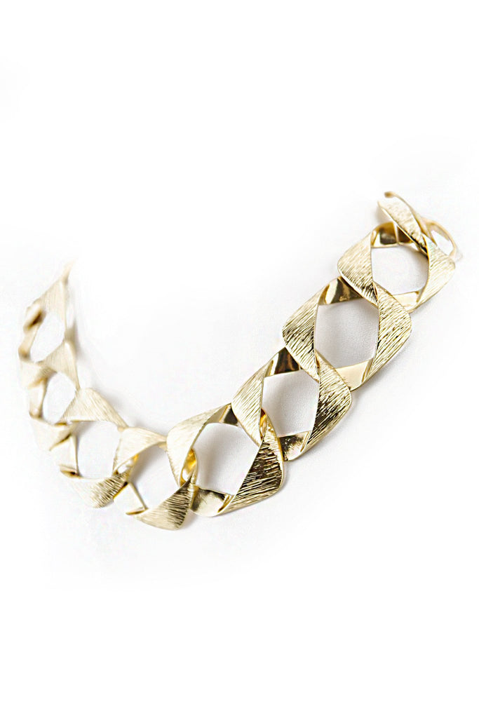 GEO OVERSIZE CHAIN LINK NECKLACE