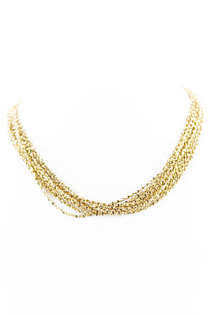 PETITE SWIRLED CHAIN NECKLACE - Haute & Rebellious