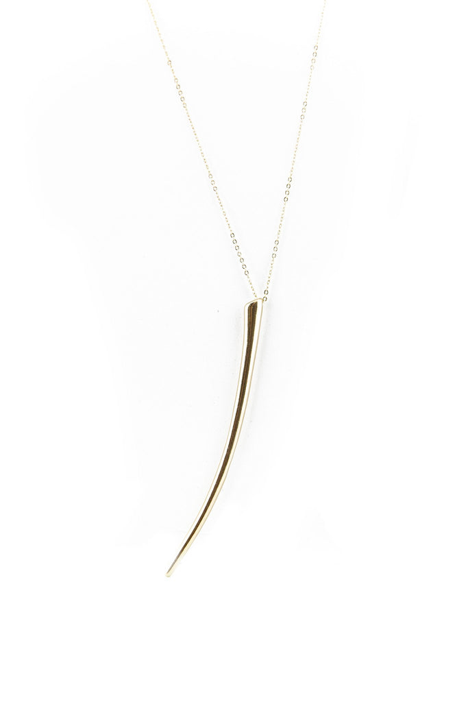LONG CHAIN CLAW PENDANT NECKLACE