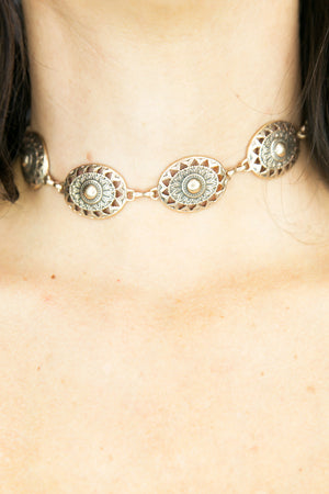 One Desire Metal Choker - Gold - Haute & Rebellious