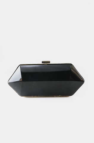 METALLIC RECTANGLE CLUTCH - Silver