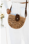 Crossbody Basket Bag - Tan