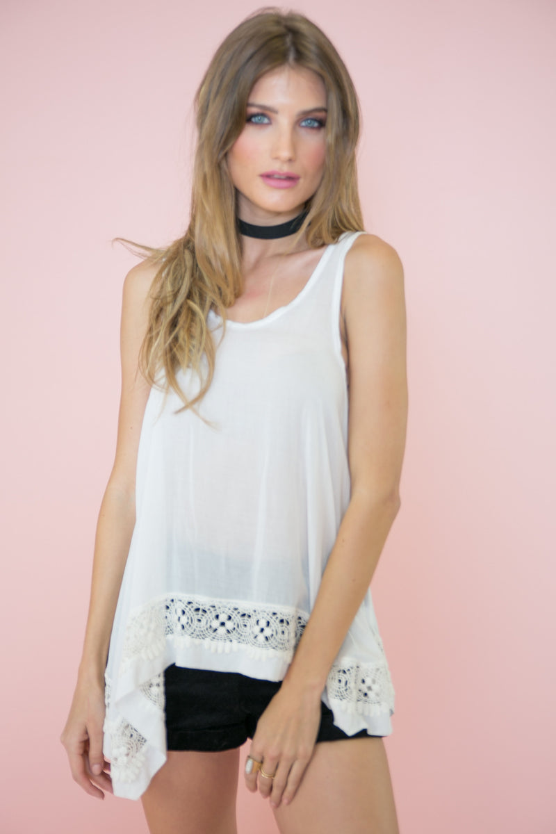 Volita Lace Trim Top - Haute & Rebellious