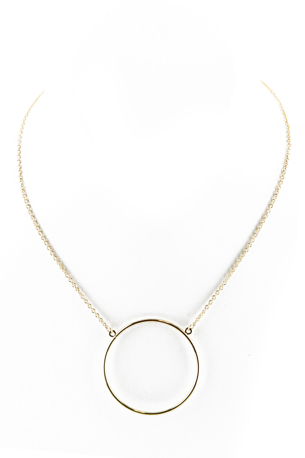 PETITE CIRCLE PENDANT NECKLACE - Haute & Rebellious