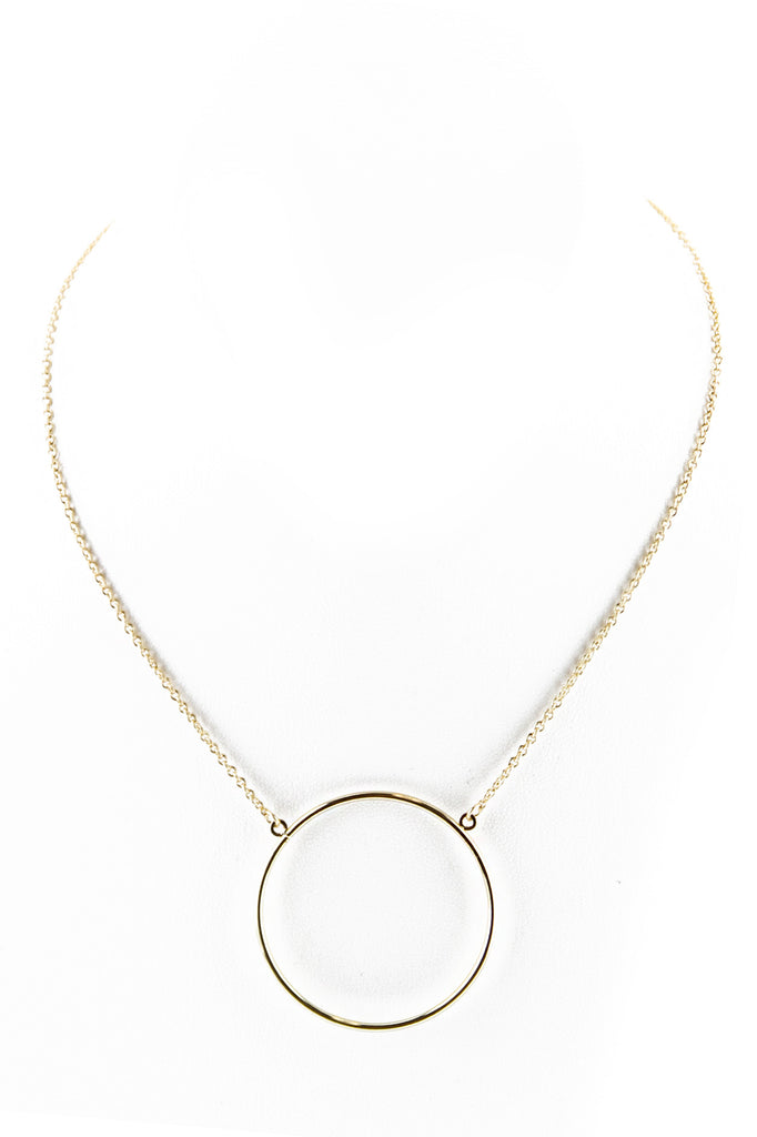 PETITE CIRCLE PENDANT NECKLACE