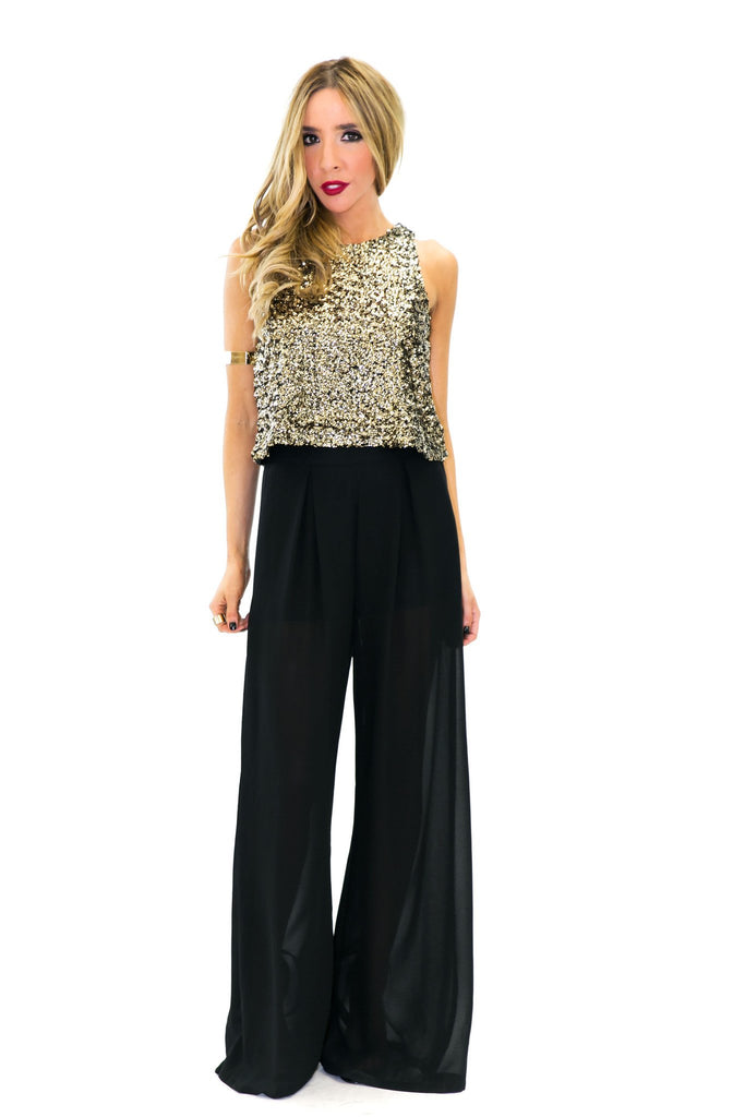 MERIN SEQUIN CROPPED TOP