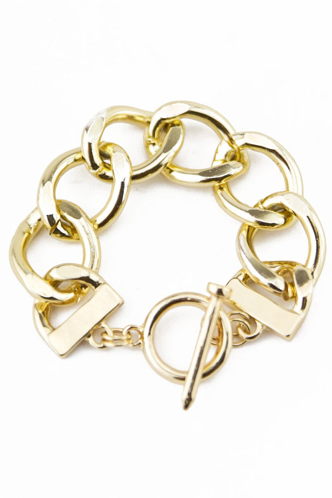 CHAIN LINK CIRCLE CLOSURE BRACELET