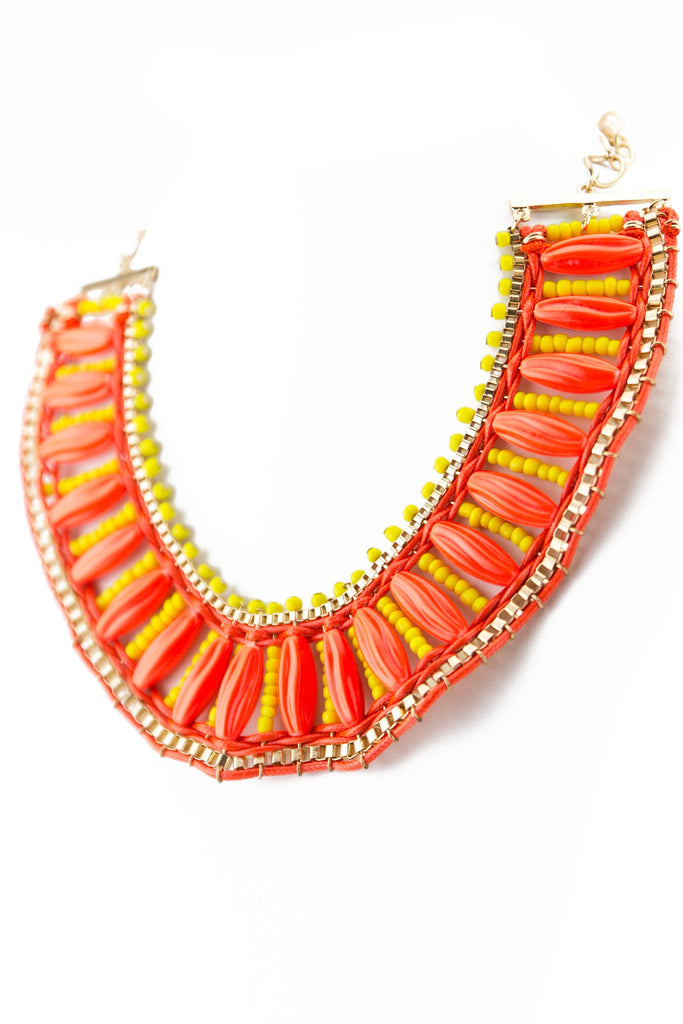 NEON TRIBAL LADDER NECKLACE