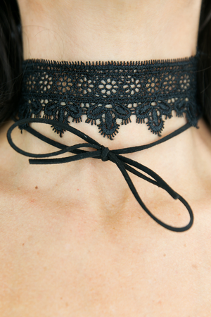 Bow-Tie & Lace Choker - Black - Haute & Rebellious