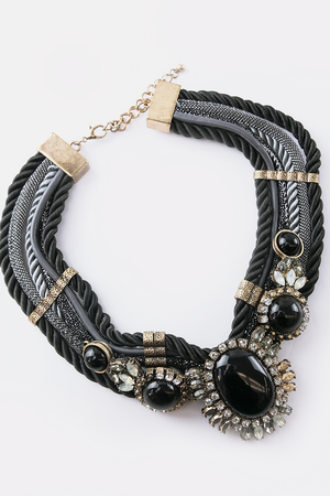 All Of Me Rope Statement Necklace