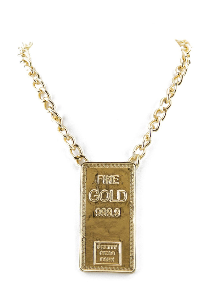 FINE GOLD BAR PENDANT NECKLACE