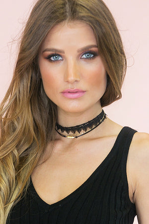 Oh So Tight Lace Combo Choker - Haute & Rebellious
