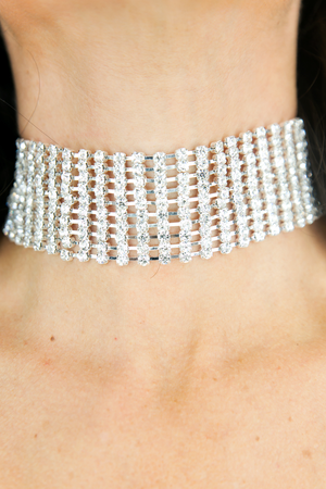 You and I Crystal Choker - Silver - Haute & Rebellious