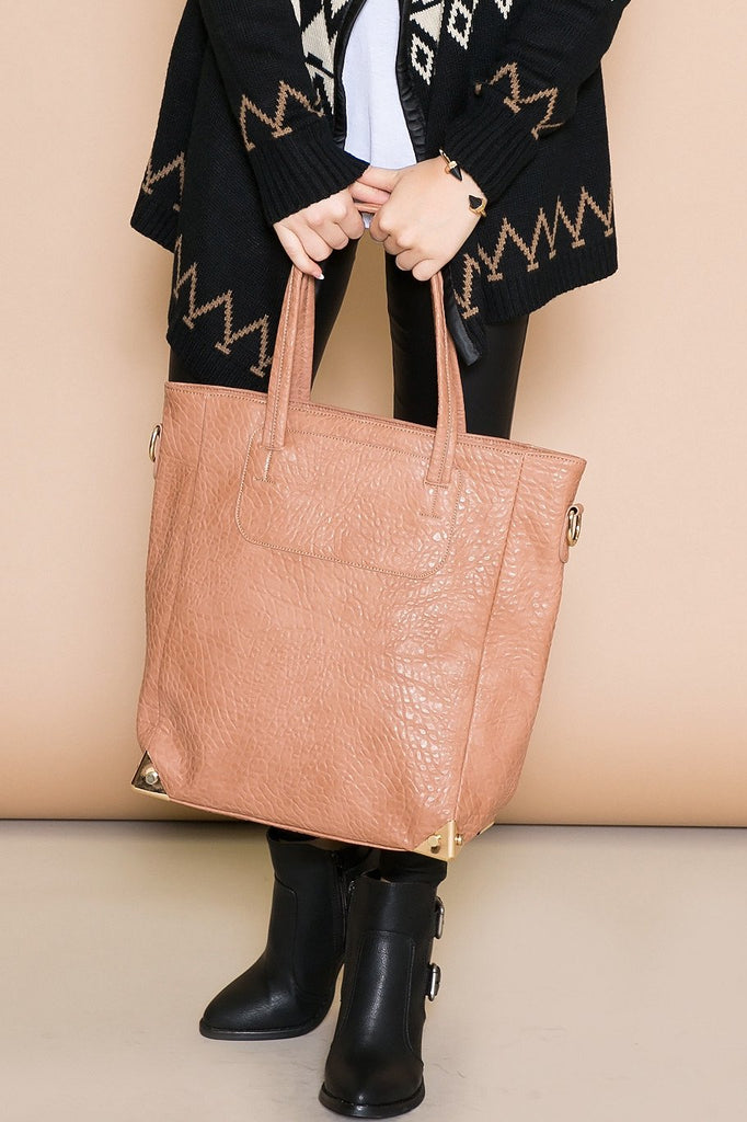 GRAINGE HANDLE TOTE - CAMEL