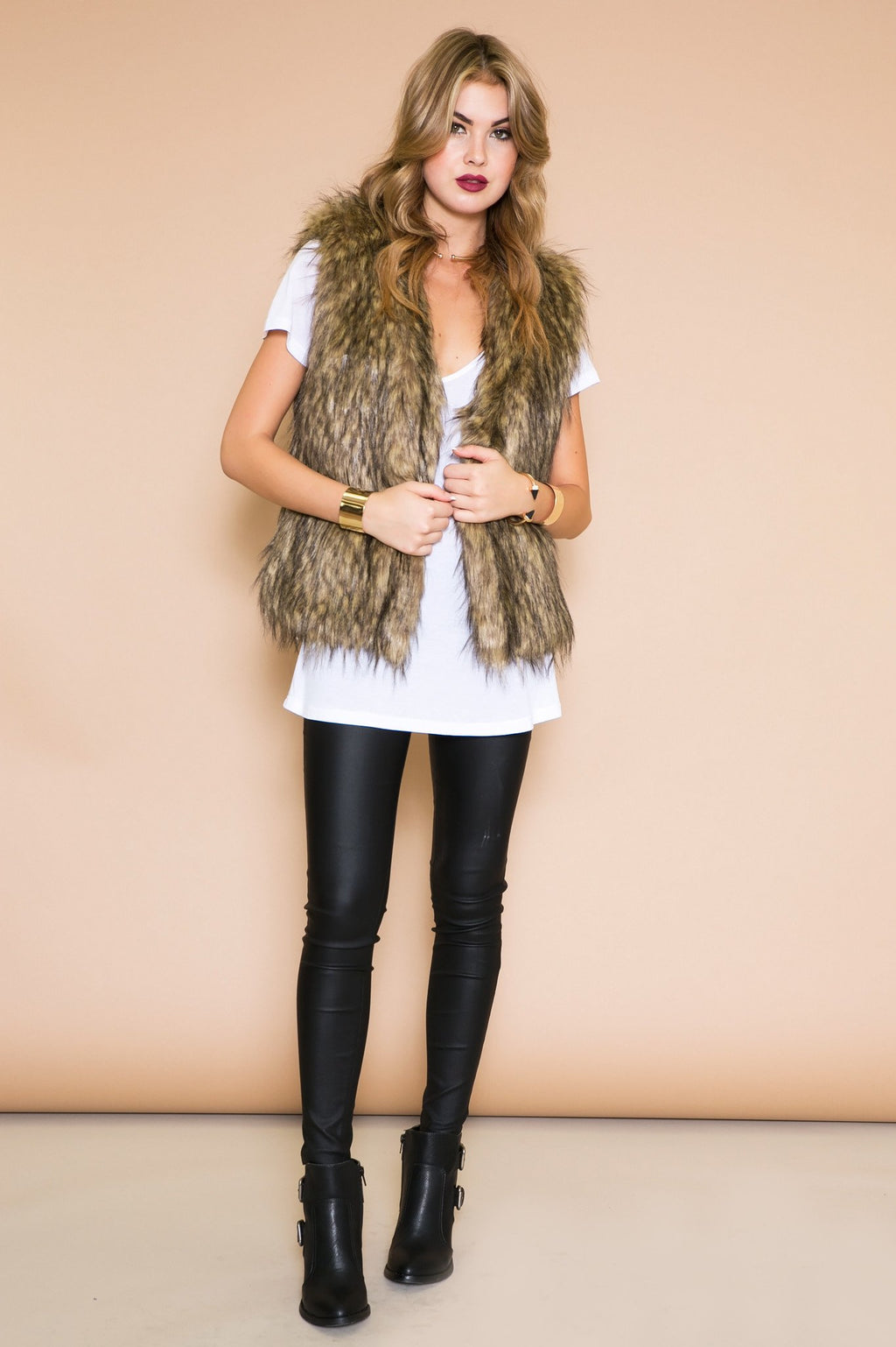 Hasten Faux Fur Vest - Haute & Rebellious
