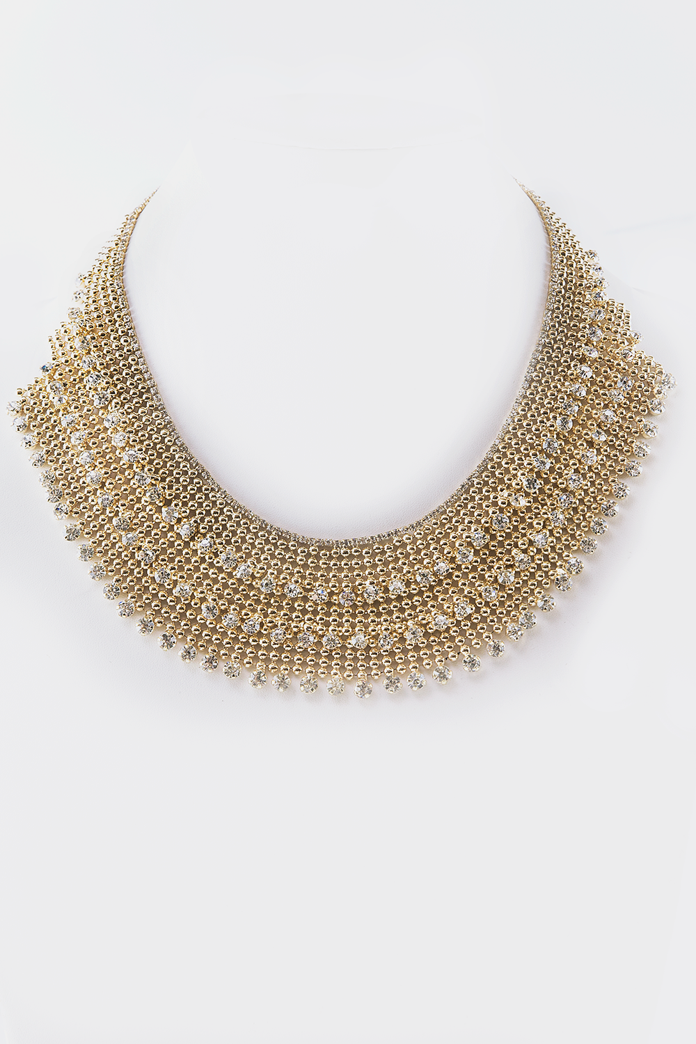 Statement Crystal Layered Necklace