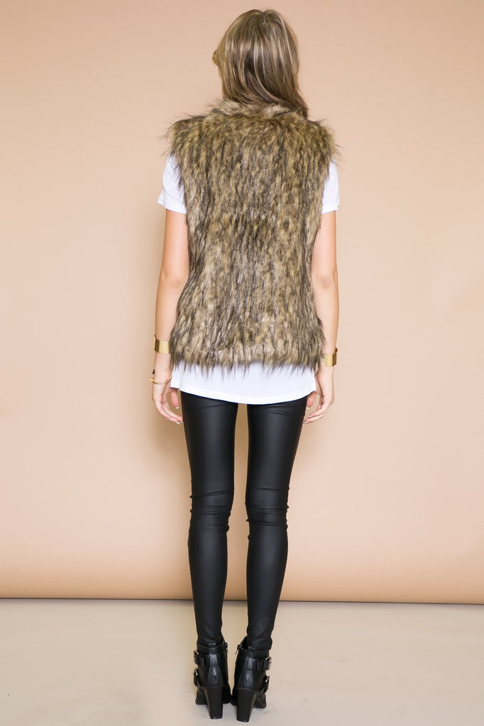 Hasten Faux Fur Vest