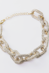 Chain Link Crystal Necklace