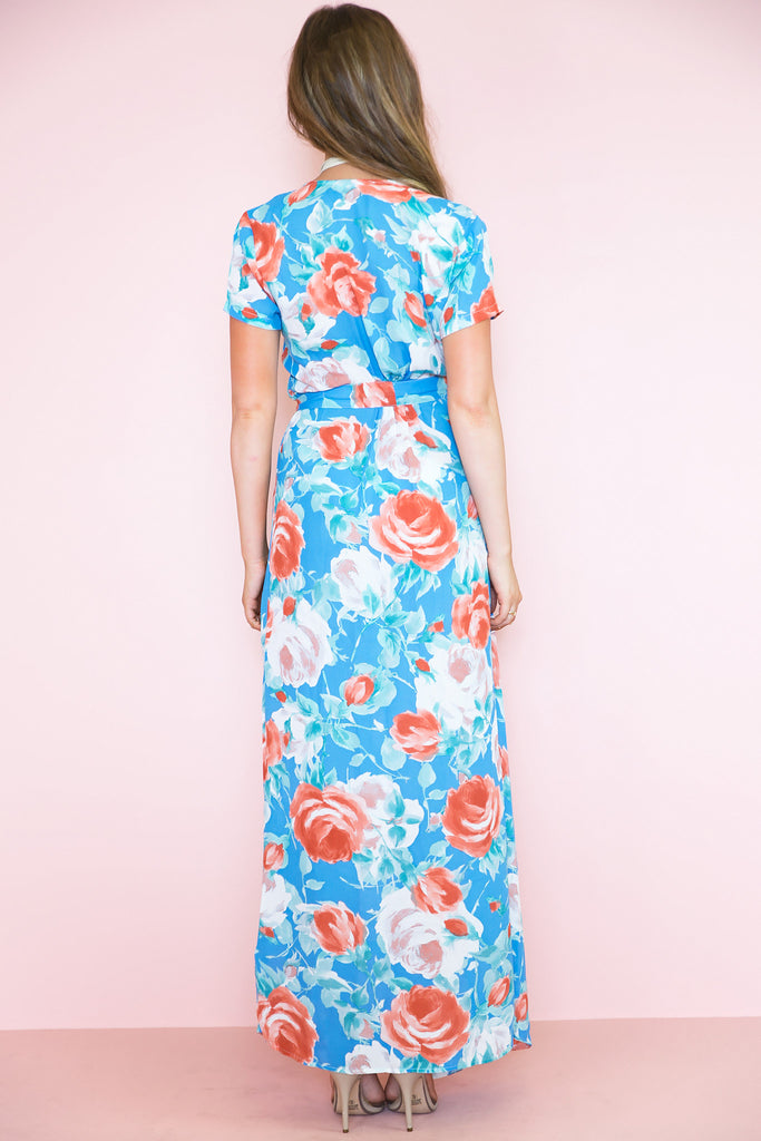Wrap Me in Flowers Floral Maxi