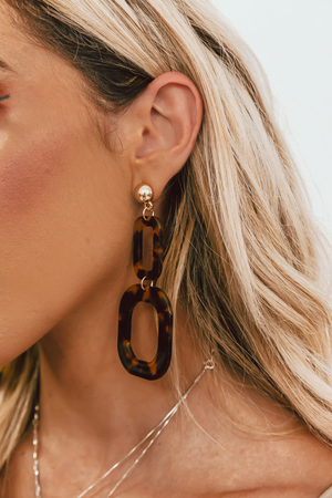 Tortoise Shell Dangle Earring