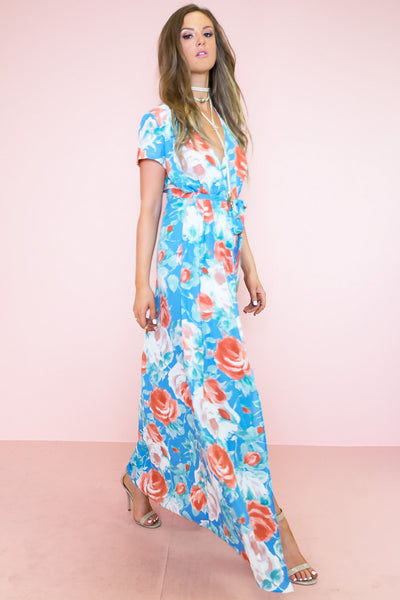 Wrap Me in Flowers Floral Maxi /// ONLY 1-M LEFT///
