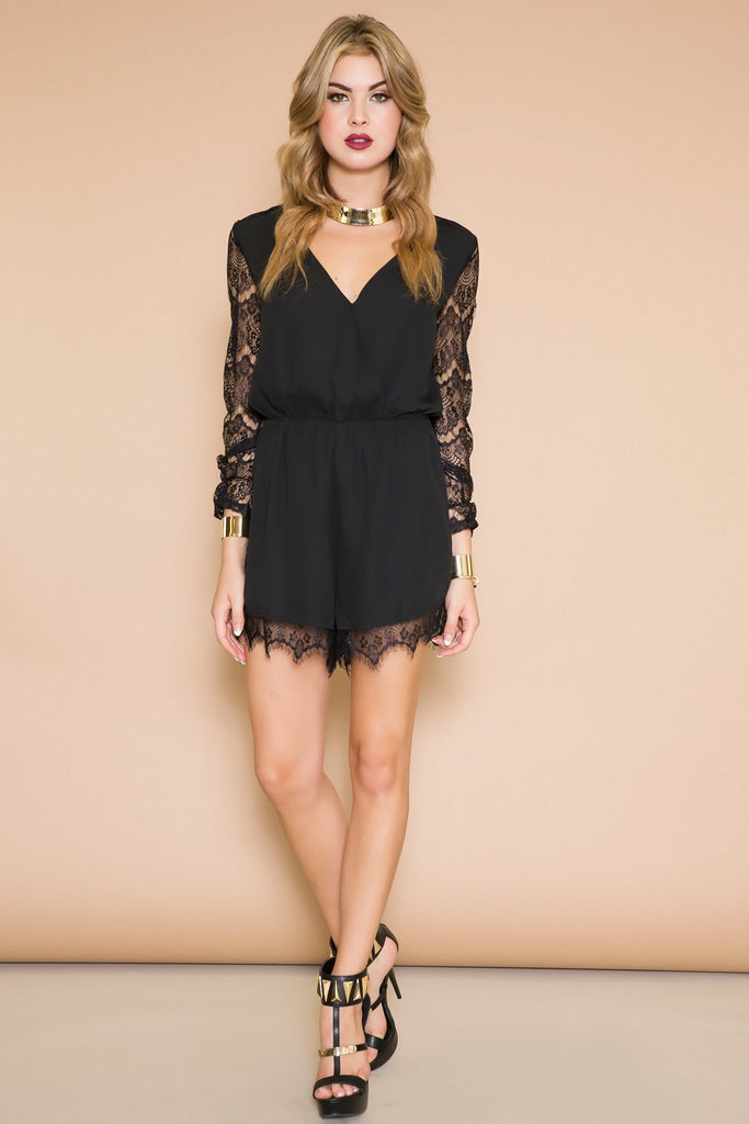 Lana Lace Sleeve Romper