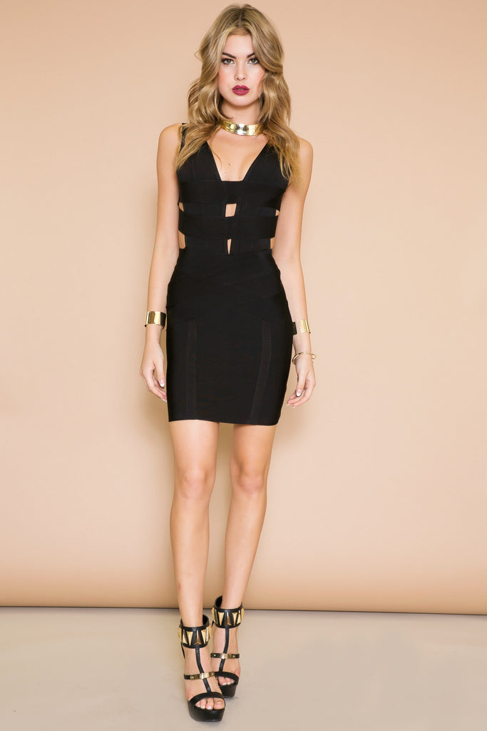 SASHA CUTOUT BANDAGE DRESS