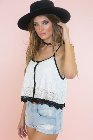 Didi Lace Crop Top - Haute & Rebellious
