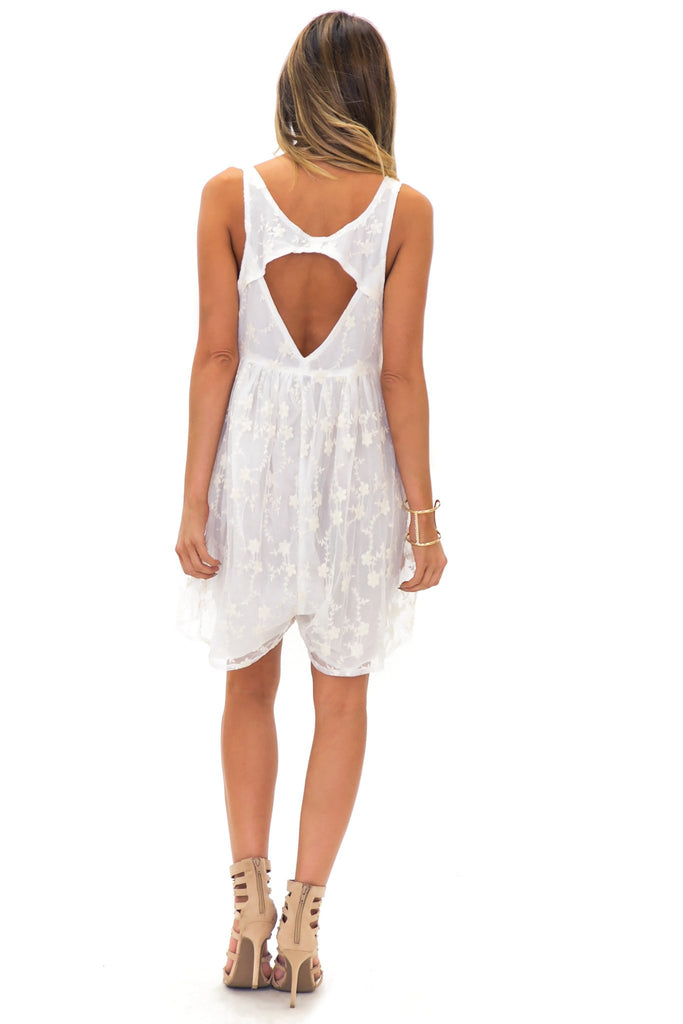 LENNA LACE WOVEN ROMPER