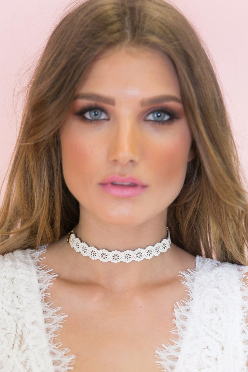Not So Classic Choker - White - Haute & Rebellious