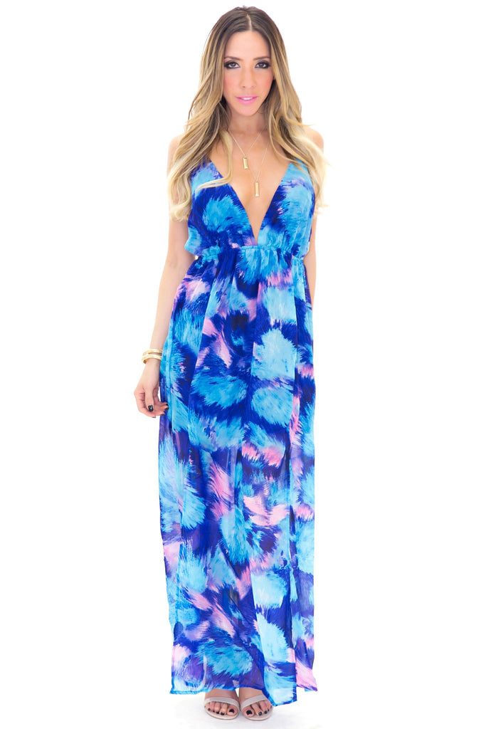 AQUAMARINE MAXI DRESS - Haute & Rebellious