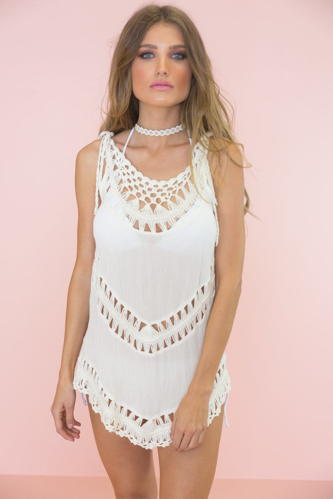 Lindie Crochet Detail Top