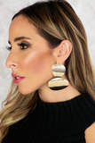 Smooth Shape Plated Earring - Gold