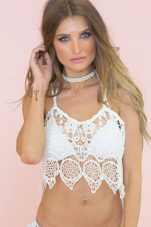 Mulina Lace Crop Top - Haute & Rebellious