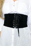 Lace-Up Suede Corset Belt - Haute & Rebellious