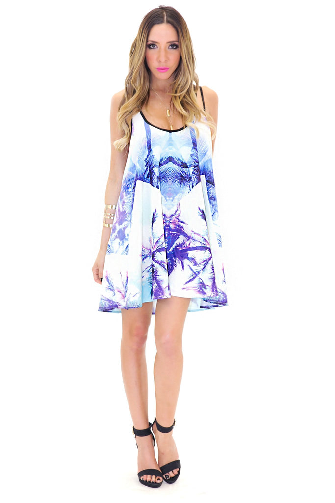 LANIAKEA TROPIC TUNIC DRESS - Blue
