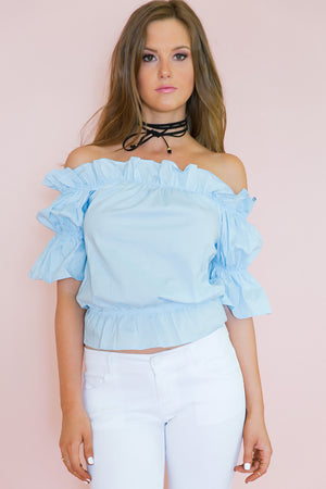 Rare Envy Ruffle Off-Shoulder Top - Haute & Rebellious
