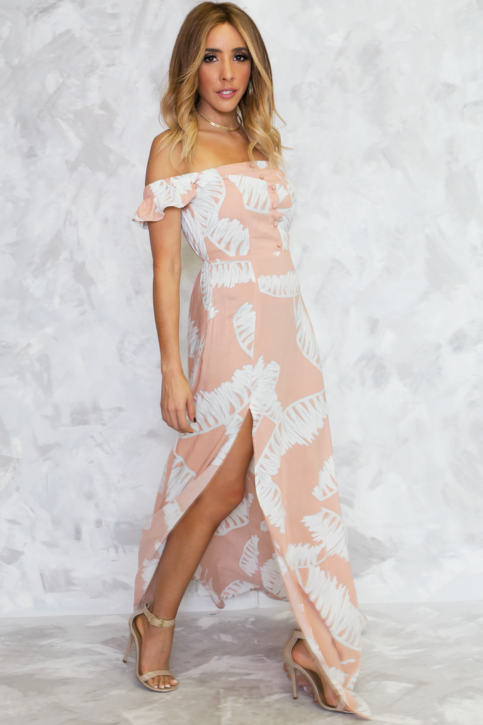 Palm Beach Off-Shoulder Dress