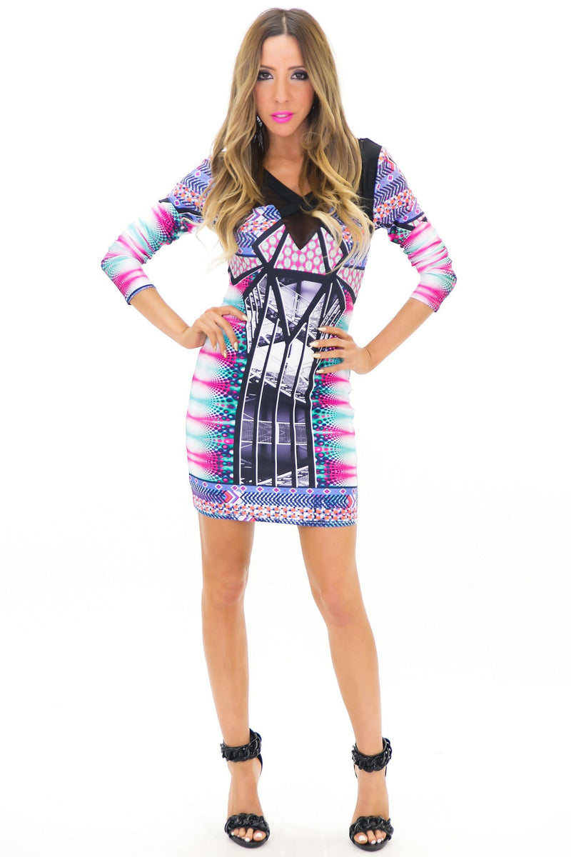 HESSAN MIRROR PRINT KNIT DRESS - Haute & Rebellious