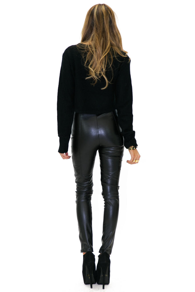 BROOKLYN VEGAN LEATHER PANT - Haute & Rebellious