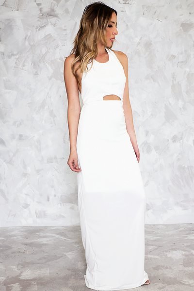 Halter Maxi Dress - White