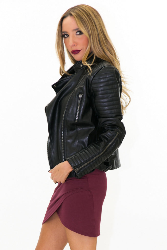 BRADLEY LEATHER MOTO JACKET - Haute & Rebellious