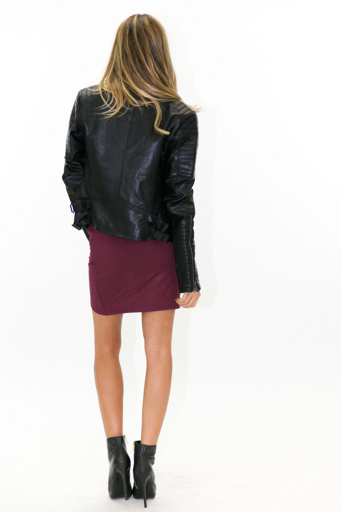 BRADLEY LEATHER MOTO JACKET