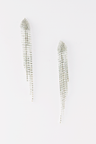 Petite Long Fringe Crystal Earrings