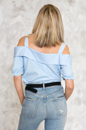 Off-Shoulder Collar Shirt - Haute & Rebellious