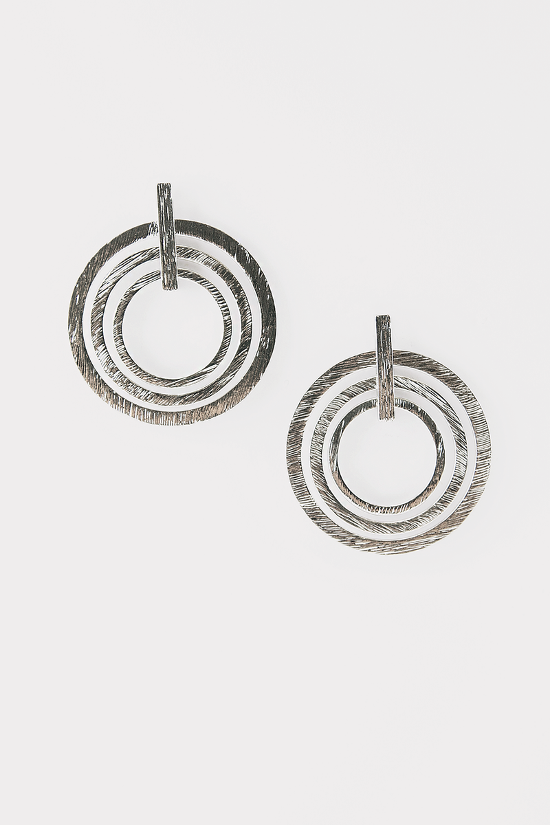 Multi Circle Earring - Silver